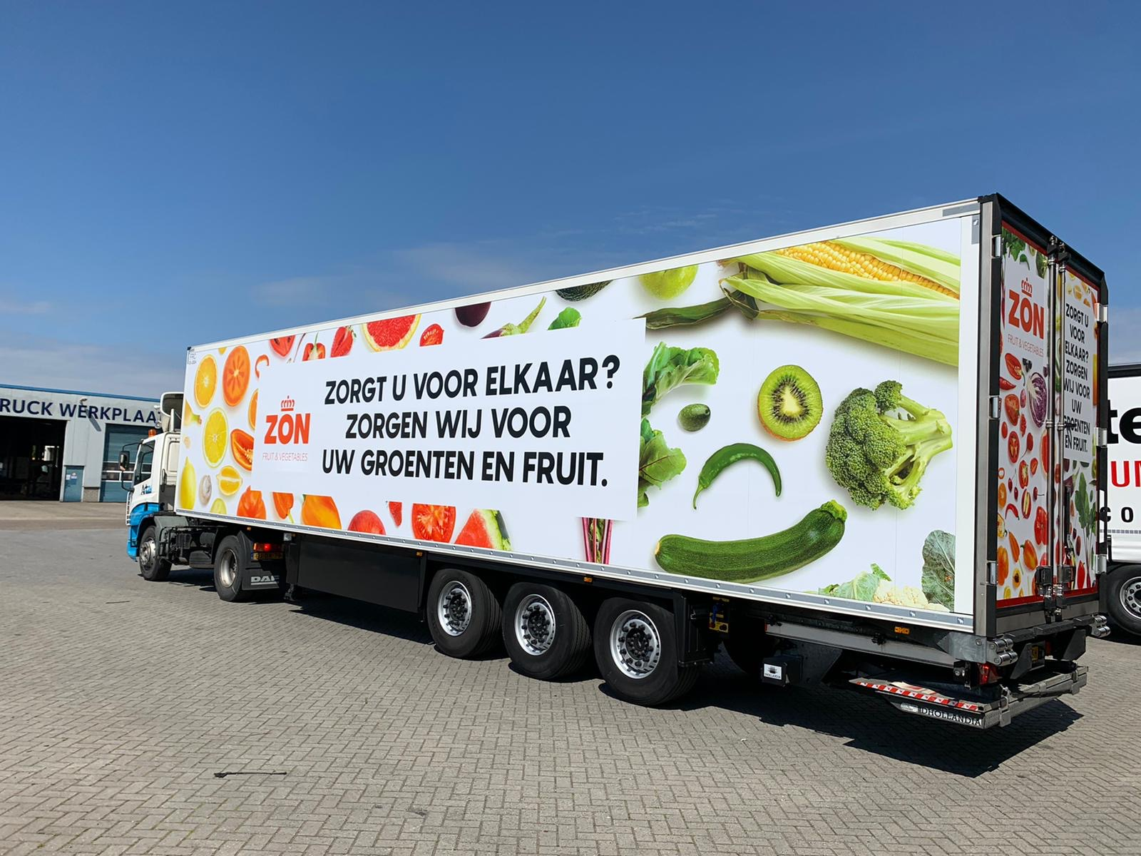 Vrachtwagen ZON fruit & vegetables